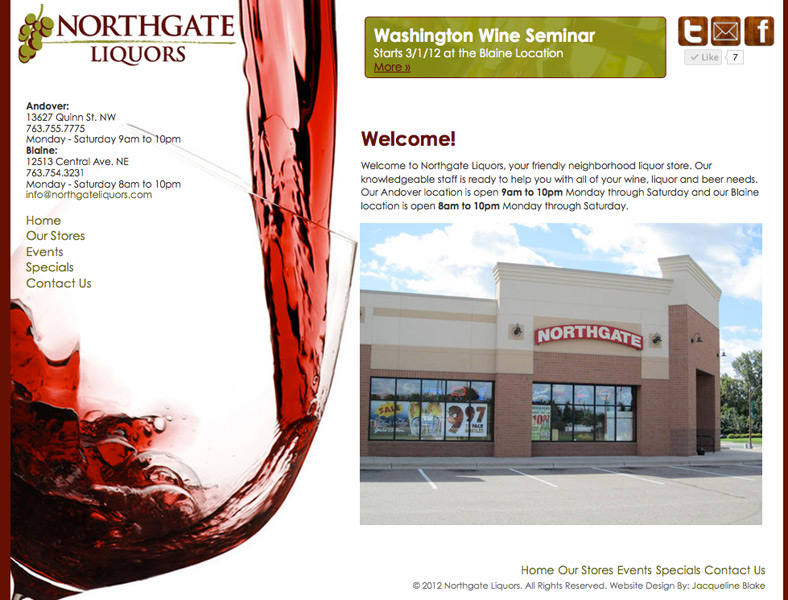 Northgate Liquors Website