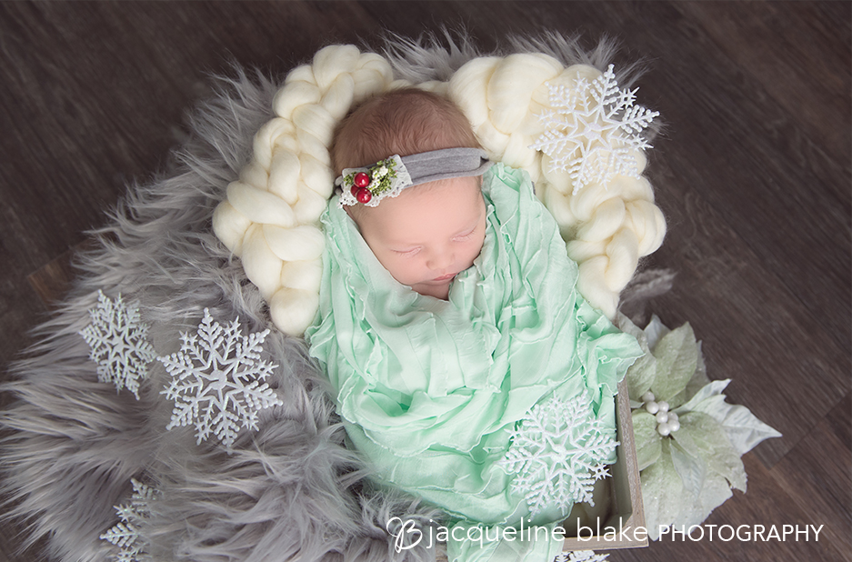 Newborn Photography with Winter Prop
